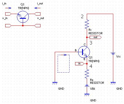 PSPICE / GNUCAP Circuit Simulator: Transistor :: NPN Common-Base
